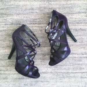 Guess Strappy Purple Heels